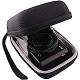 WERJIA Hard EVA Travel Case for Canon PowerShot SX720 SX620 SX730 SX740 G7X Digital Camera (Black)