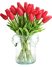 XIAOHESHOP XHSP 30 pcs Real-Touch Artificial Tulip Flowers Home Wedding Party Decor