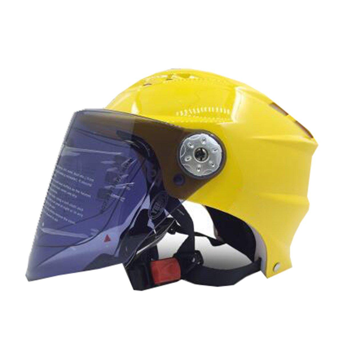 TZQ Einfache Großzügige Männer Damen Reiter Ritter Sommer Sonnenschutz Motorrad Kopf Frühling Herbst Helm Helm