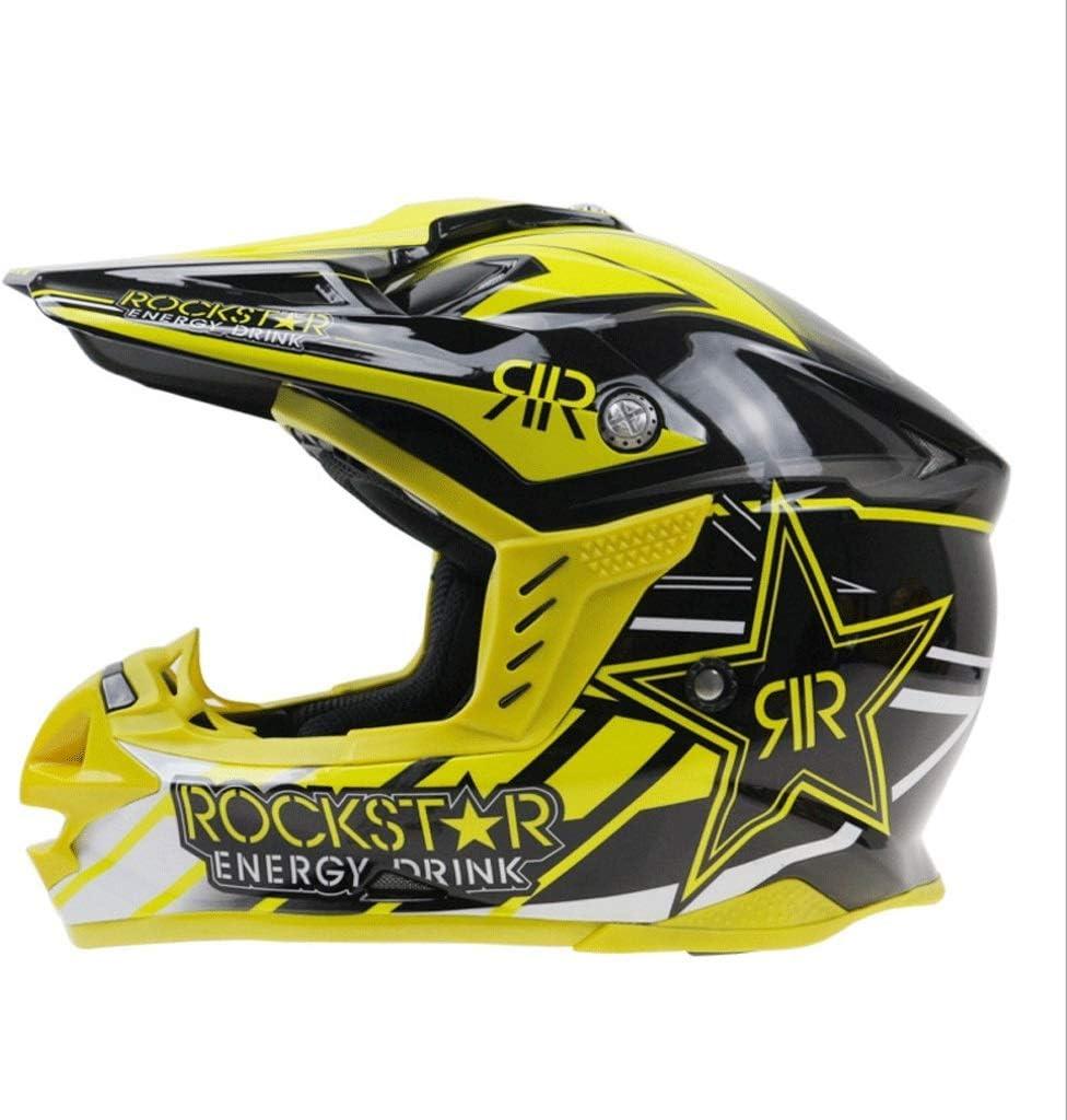 ヘルメットリムーバブルライニングオートバイオフロードサイトオートバイヘルメット調整可能なオフロードヘルメット (Size : L)