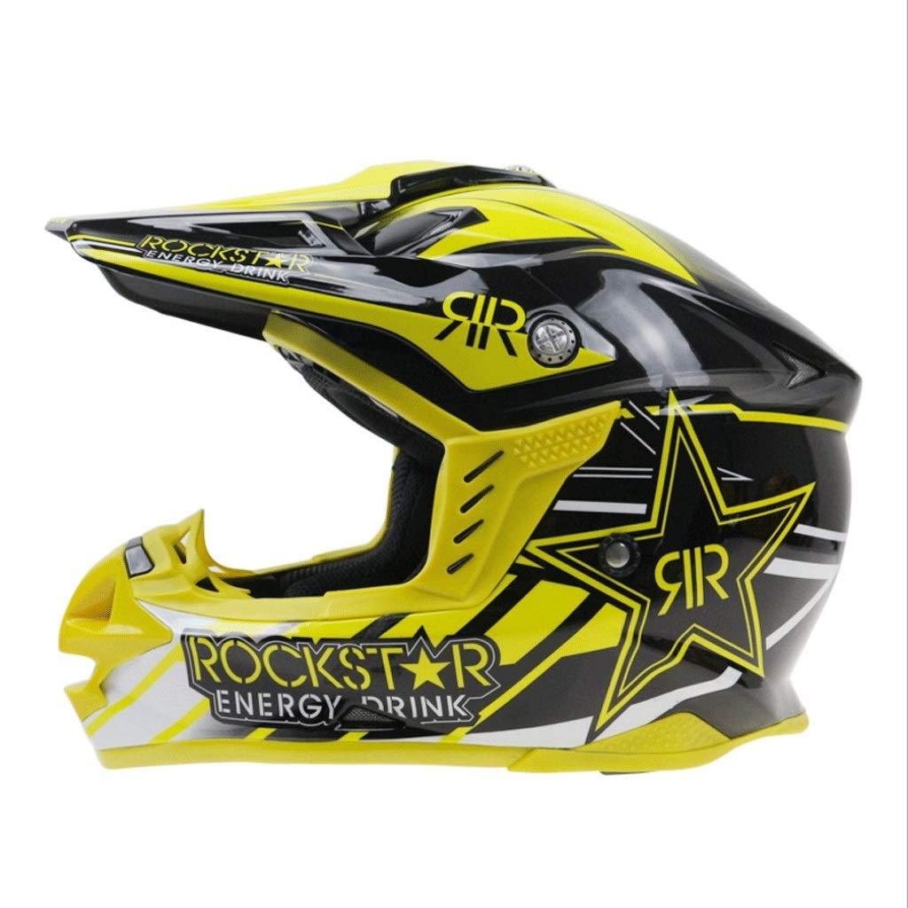 ヘルメットリムーバブルライニングオートバイオフロードサイトオートバイヘルメット調整可能なオフロードヘルメット (Size : XXL)