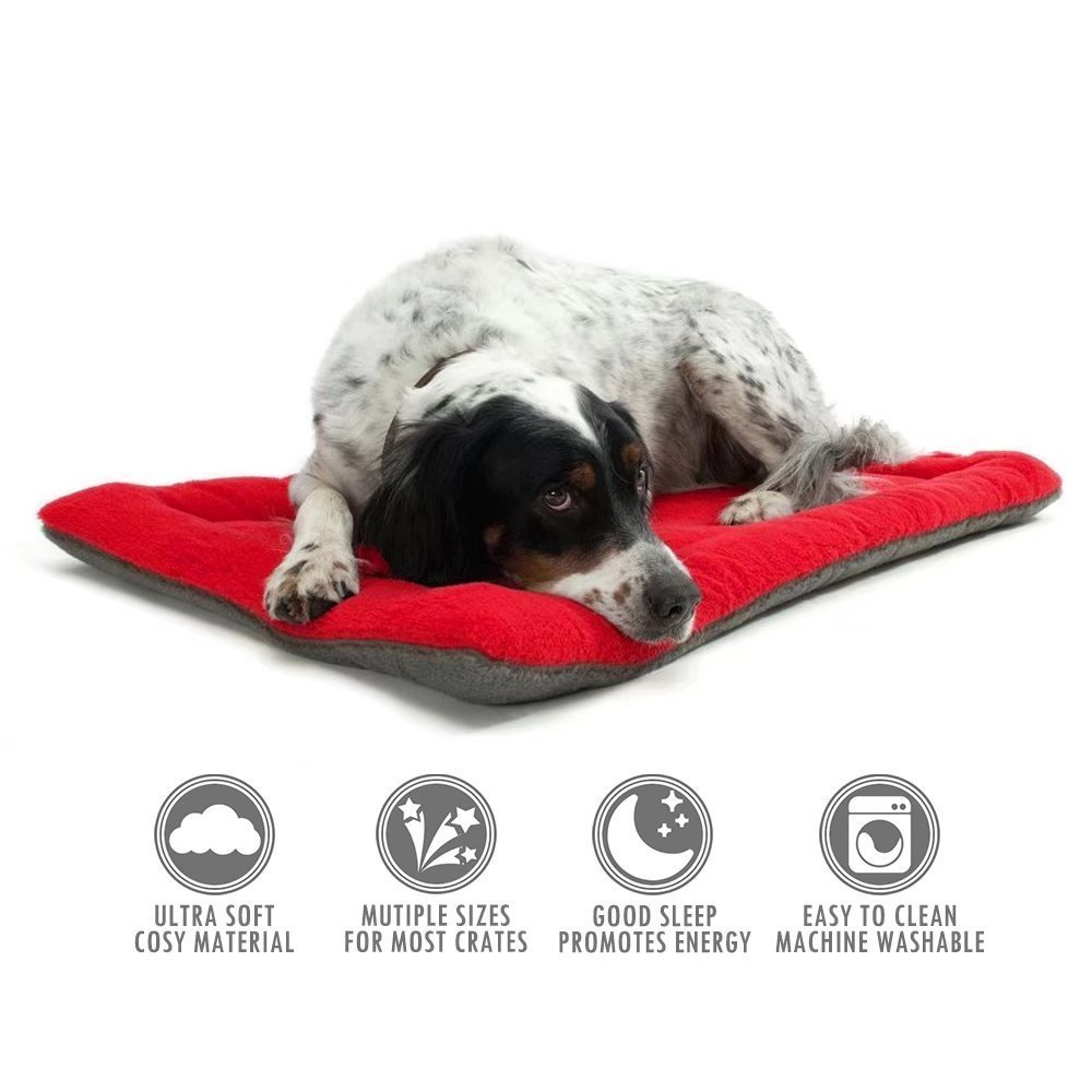 Pet Bed Pet Cushion Dog Bed Crate Mattress Pad Comfortable Everywhere Red Small Vellhater