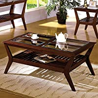 # CM4664C Virigina Beach Virginia Coffee Table in Dark Cherry Finish by Furniture of Am...
