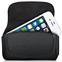 Fosmon Horizontal Leather Pouch Case with Belt Clip for Apple iPhone 3G / 3GS / 4 / 4S