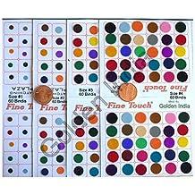 Multi Assorted Colors Velvet Dot Bindi Tattoo 240 Stickers Adhesive Body Jewelry P3