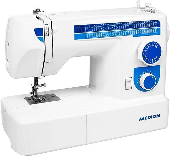 MEDION MD 17187 - Máquina de Coser (Azul, Blanco, Máquina de Coser ...