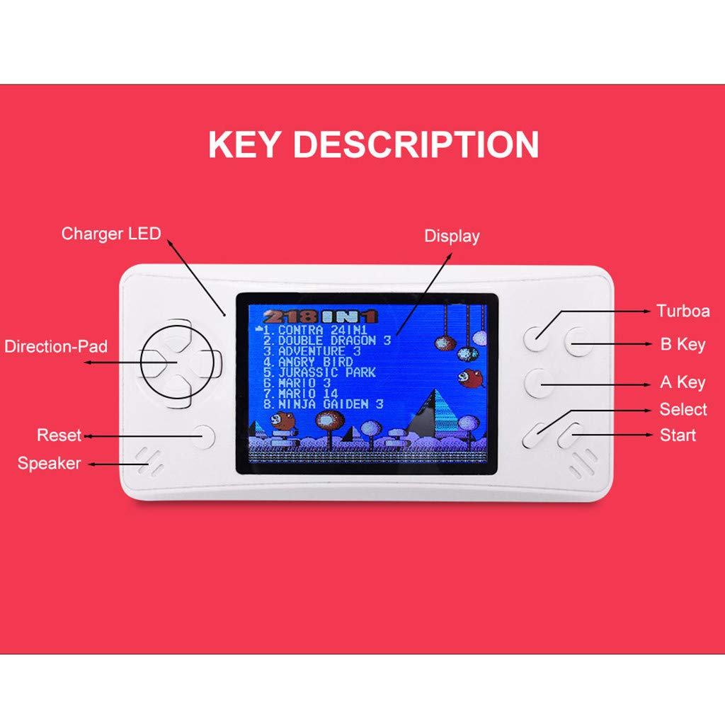 Likero Handheld Game Console,RS-1Plus Portable Handheld Mini Video Console Children Gift 218 Classic Game,Retro Game Console Can Play on TV, Good Gifts for  (Blue) by Likero (Image #7)
