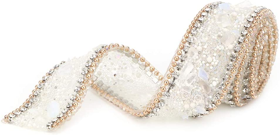 Crystal Rhinestones Chain Trim Ribbon Decoration Sewing Beaded Trim 2.5cm DIY Diamond Mesh Wrap Roll