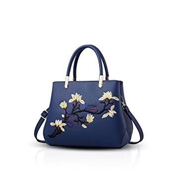 57d789e8900ed NICOLE DORIS Elegant Damen Handtaschen Umhängetasche Damenhandtaschen  Henkeltaschen Schultertaschen Wasserdicht Dauerhaft PU Navy blau
