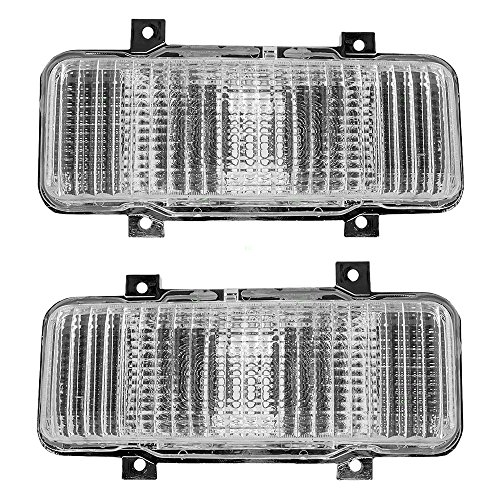 Driver and Passenger Park Signal Front Marker Lights Lamps Lenses Replacement for Chevrolet GMC SUV Pickup Truck 914807 ()