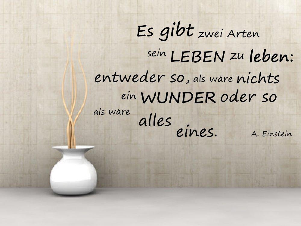 Wandtattoo, 68058-58x33 cm, ~ Schriftzug: Einstein - Es gibt zwei ...