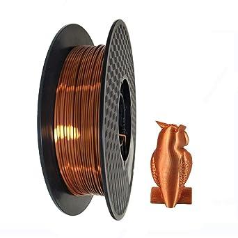 Filamento de impresora 3D PLA 1,75 mm cobre sedoso – Silk Copper ...