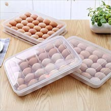 Lautechco 30Grids Clear Large Capacity Portable Home Picnic Plastic Egg Box Case Holder Storage Container Fridge