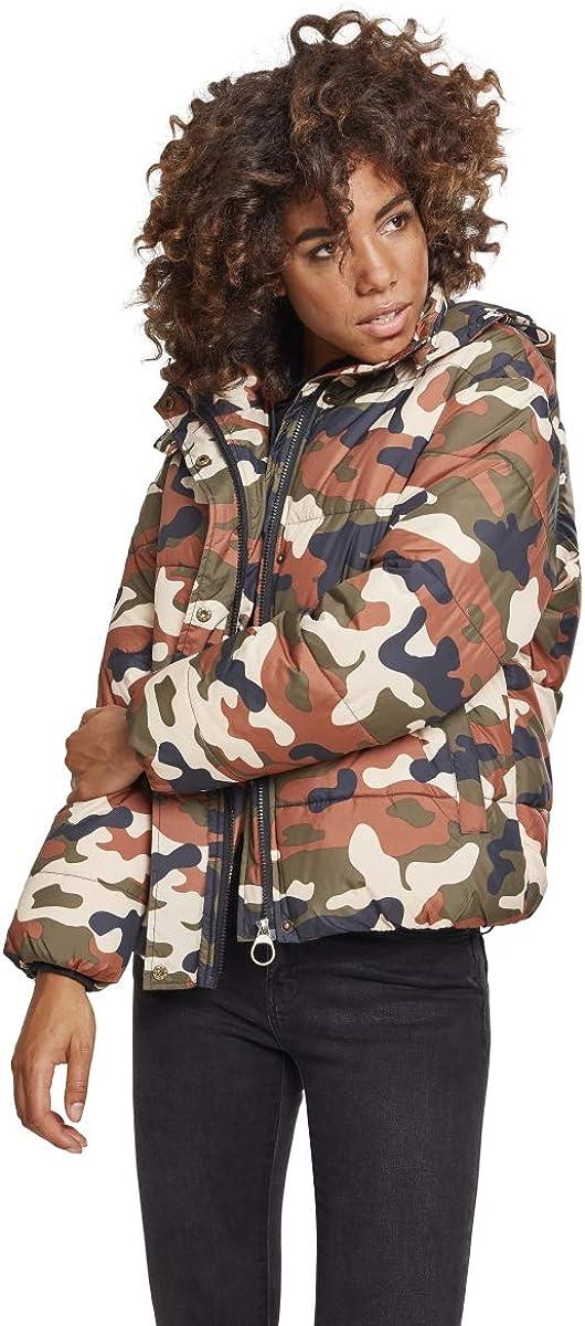 Boyfriend Camo Puffer Winter Jacket Urban Classics Ladies