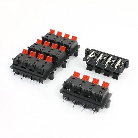 SOURCING MAP 5 piezas 8 pin conector con muelles tabla de terminales de altavoz 63 mm x 30 mm: Amazon.es: Bricolaje y herramientas