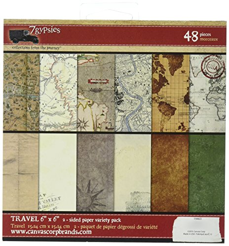 - 7gypsies Gypsy Travels Double-Sided Paper Pack 6