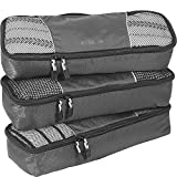 eBags Slim Packing Cubes - 3pc Set (Titanium)