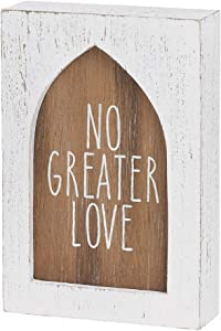Collins Painting No Greater Love Signs & Others - Christian Home Decor - Wooden Signs with Sayings - Inspirational Decor (Greater Love)