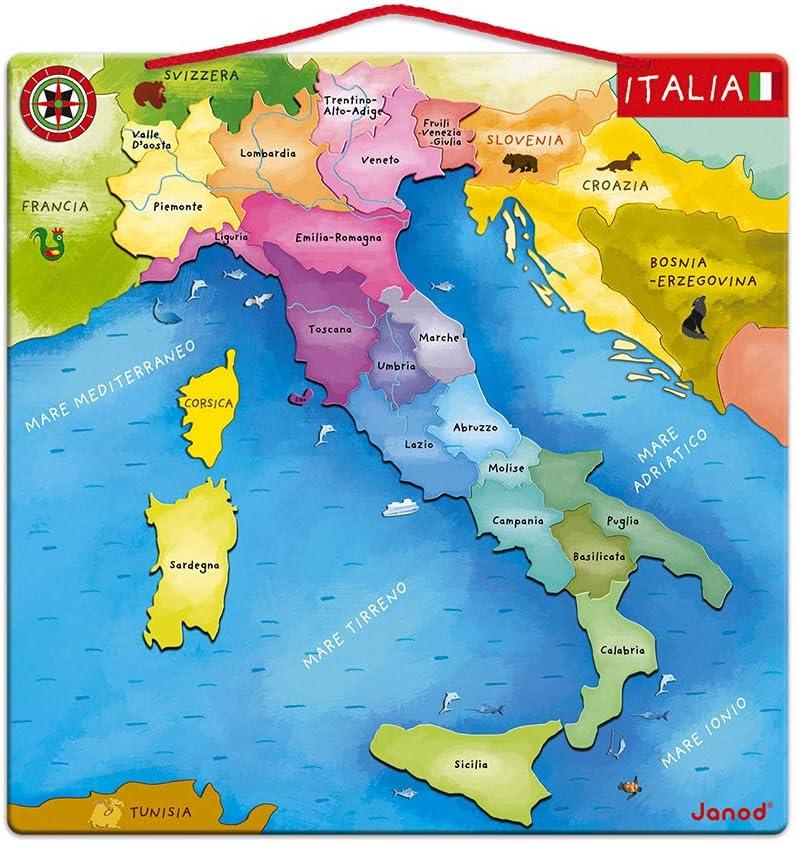 Cartina Mondo Trovaprezzi.Janod Mappa D Italia Magnetica 20 Pezzi Legno 36 X 36 Cm Gioco Educativo Per Bambini Dai 7 Anni In Su J05488 Amazon It Giochi E Giocattoli