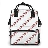 Baseball Diaper Bag Backpack Baby Nappy Bag Multifunction Waterproof Travel Back Pack