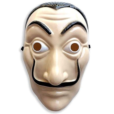 Máscara de Halloween multifunción, disfraz de la casa de papel, máscara de casa de papel, máscara de película de cosplay, máscara de fiesta realista ...