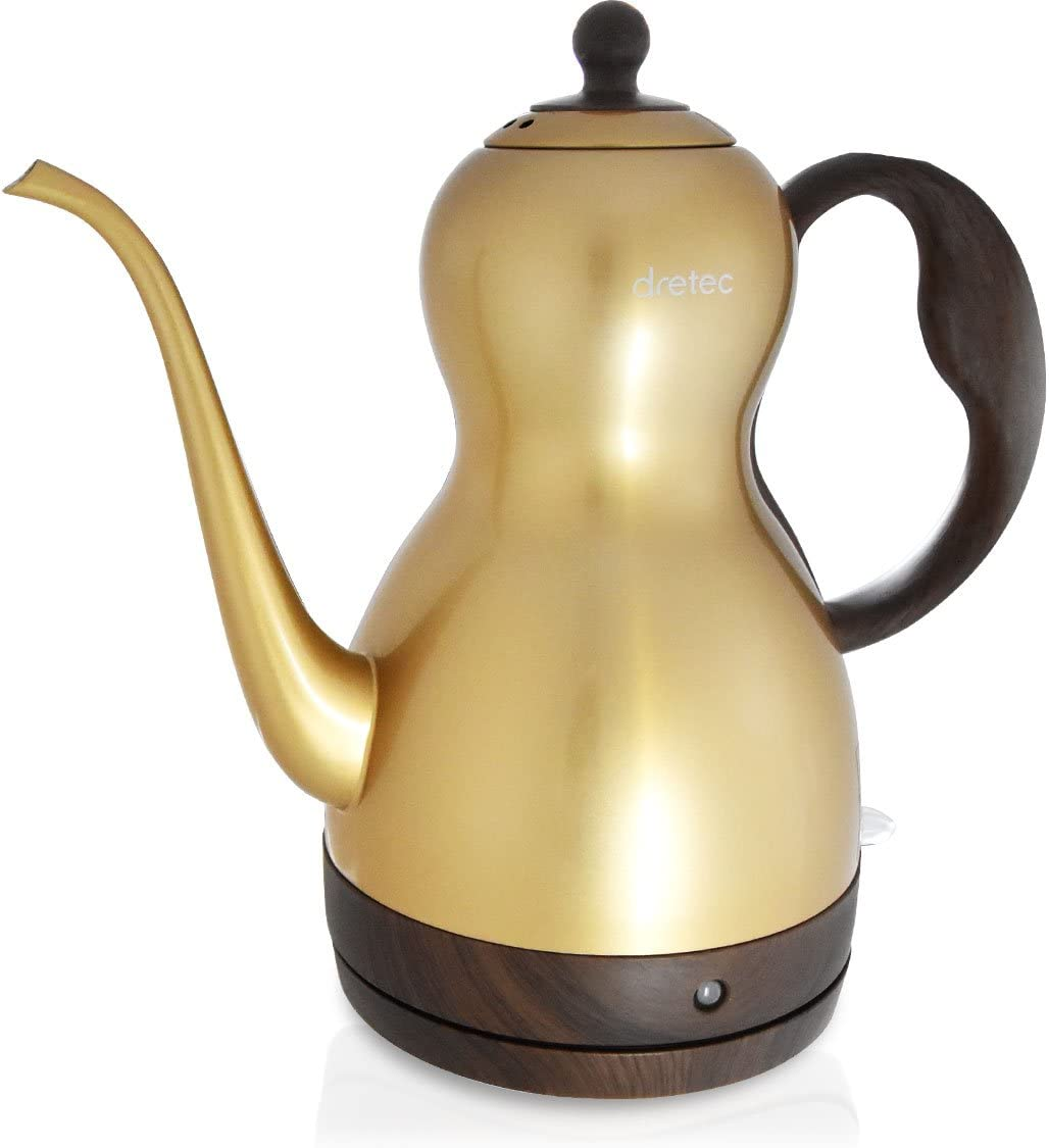 DRETEC Stainless Steel Kettle Gourd 1.0L PO-349GD Gold Japan Domestic genuine products