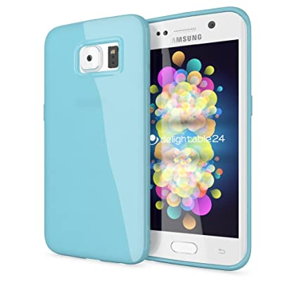 Red NALIA Case compatible with Samsung Galaxy S7 Edge Ultra-Thin Silicone Back Cover Protector Rubber Soft Skin Etui Flexible Protective Shock-Proof Jelly Slim Gel Bumper Smart-Phone Backcase