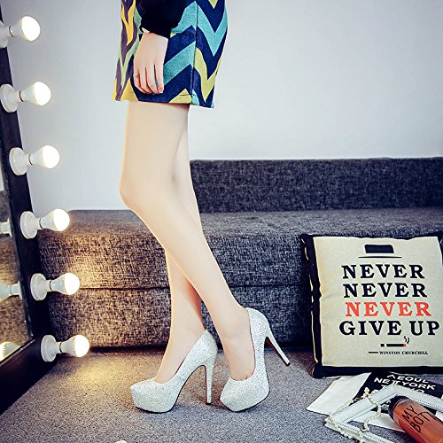 Ultra Bride Shoes 7 Heeled With Sandals Club Shoes Fine Shoes High Wedding Shoes Fashion Crystal Prom VIVIOO Wedding New 0qwg6STU
