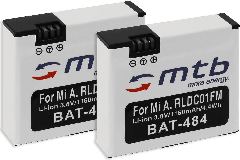 2 Baterías [1160 mAh - 3.8V - Li-Ion] para Xiaomi mijia Mini 4K - reemplaza Xiaomi RLDC01FM