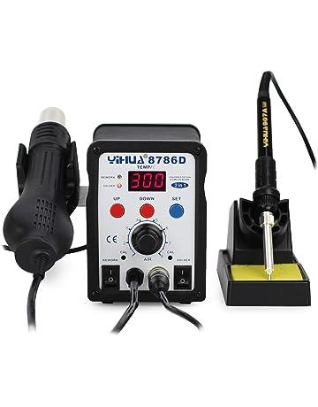 YIHUA 2 in 1 estación de soldadura soldador estaño, aire caliente desoldadura, regulable temperatura