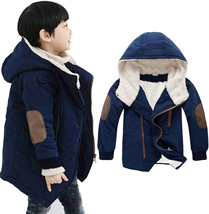 dcd39aa82 Amazon.com: ❤ Mealeaf ❤ Toddler Children Jackets Kids Boys Teen Hooded with  Fur Outerwear Coat Warm Winter Clothing Clothes 3-9t: Clothing