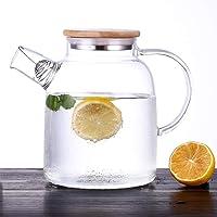 Tetera de vidrio grande con bobina de filtro