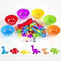 BBLIKE Montessori Montessori Speelgoed voor kinderen, 58 stuks, dinosaurus, Montessori, wiskunde, speelgoed, tellen en…