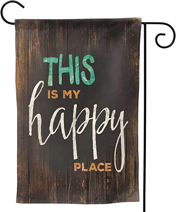 Andrea Back Sweet Home Garden Flag This is My Happy Place Garden Flag Holiday Decoration Family Flag Parade Flag Match Flag Family Party Flag for Anniversary Yard Outdoor Decoration