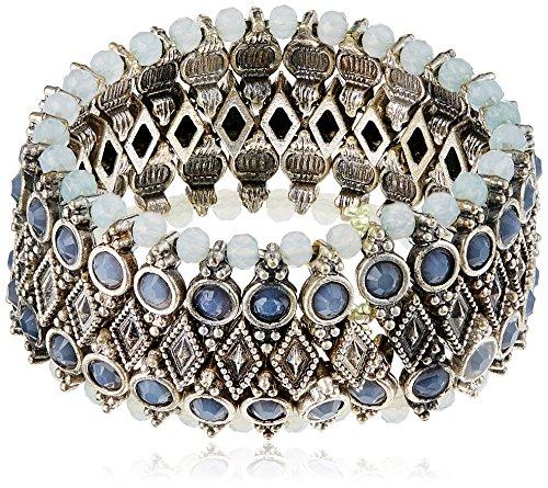 Accessorize Multi Strand Bracelet for Women (Silver) (MN-18425812001)