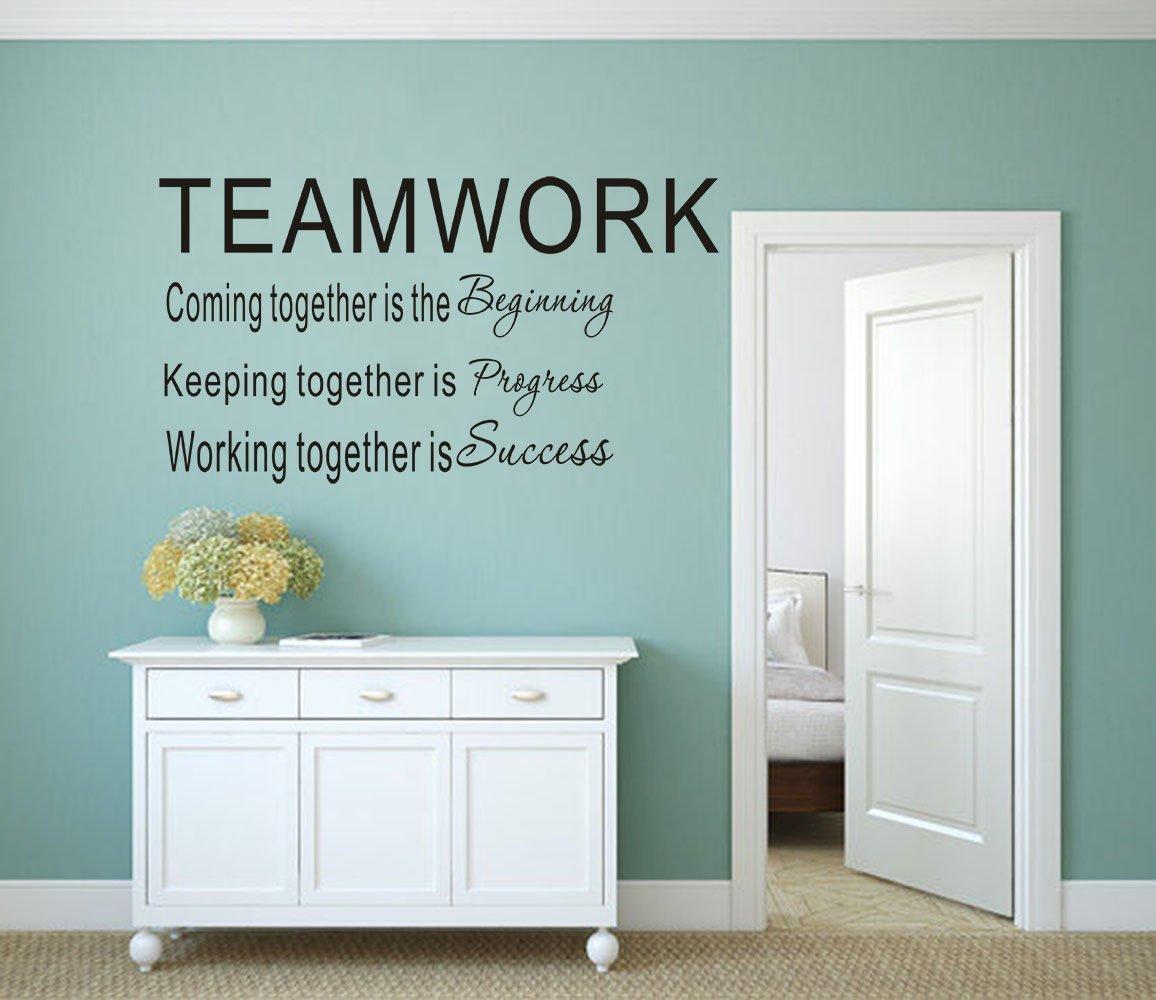 Amazon.com: LUCKKYY Large Teamwork Definition Office Vinyl Wall ...