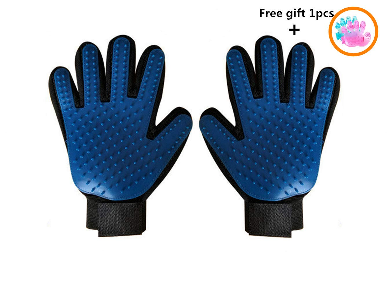 Kirsches Pet Grooming Glove Hair Remover Brush for Long&Short Fur Gentle Shedding Massage Tool Dog/Cat/Horse One Pair