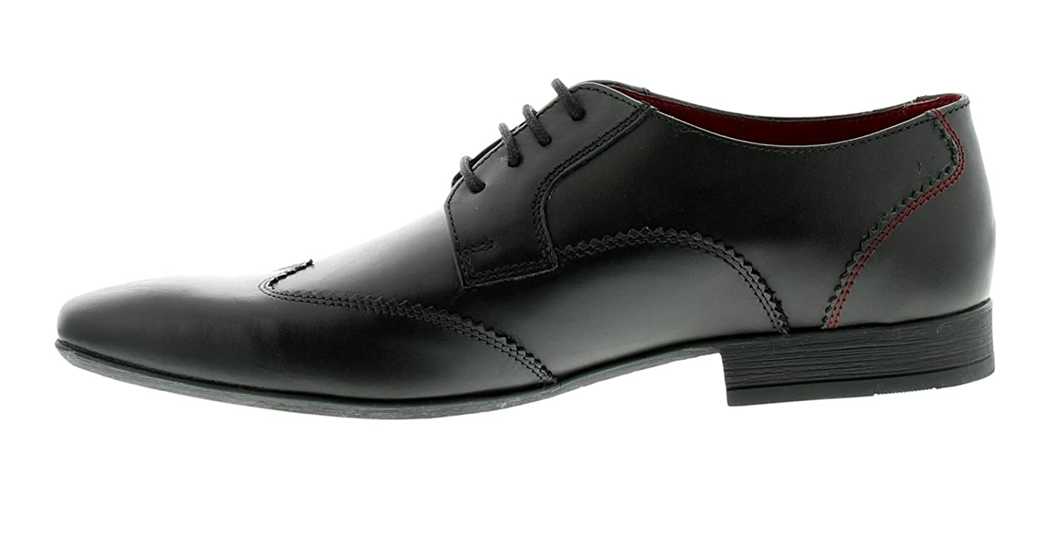 d59d608f898197 Lambretta Brogue Mens Other Leather Material Formal Shoes Black/Black:  Amazon.co.uk: Sports & Outdoors