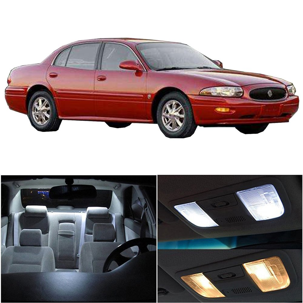 cciyu 17 Pack White LED Bulb LED Interior Lights Accessories Replacement Package Kit Replacement fit for 2000-2005 Buick LeSabre 811546-5210-1710051