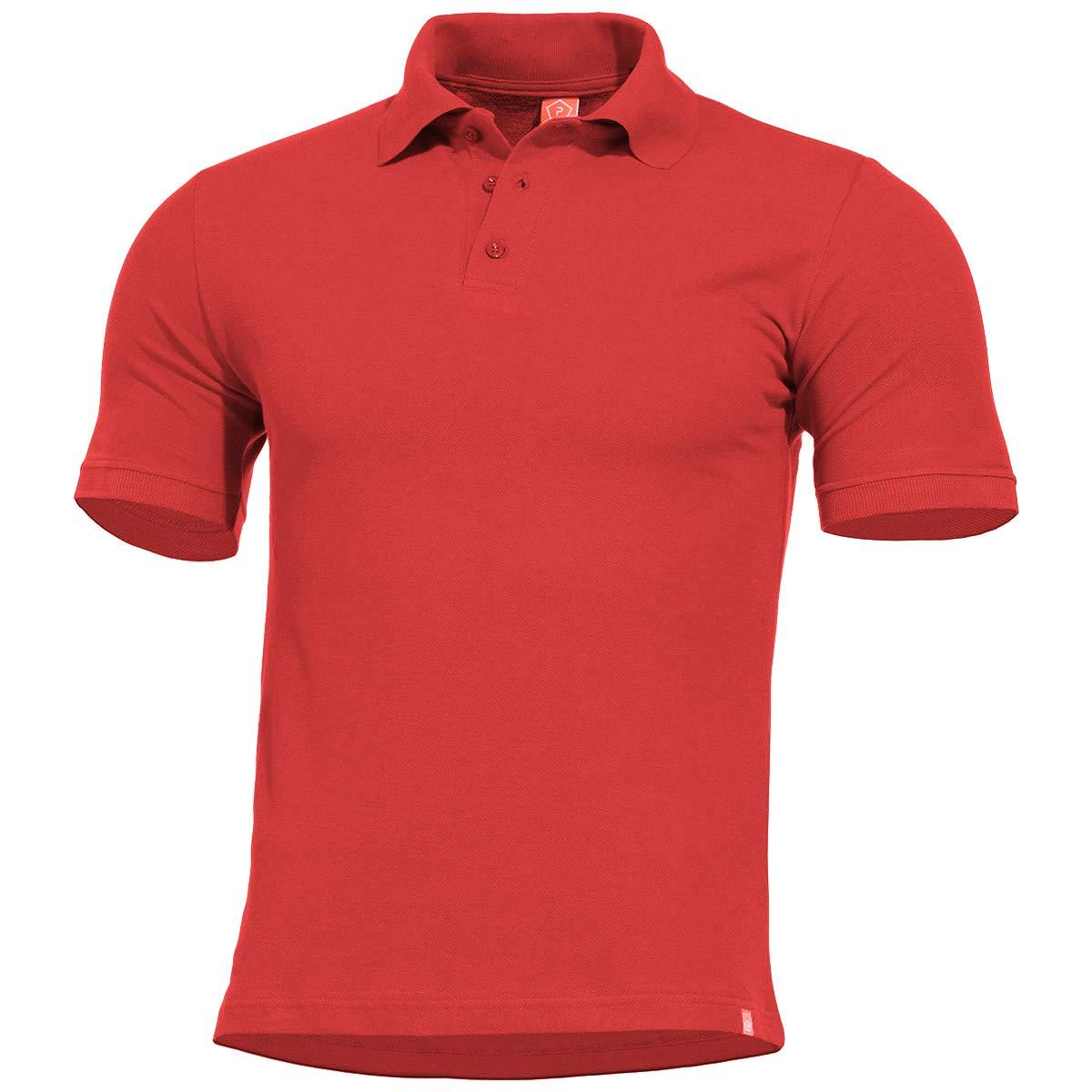 Pentagon Hombres Sierra Polo Camiseta Rojo tamaño M: Amazon.es ...