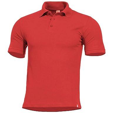 Pentagon Hombres Sierra Polo Camiseta Rojo tamaño XL: Amazon.es ...