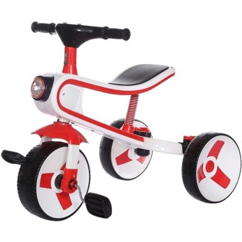 HAIZHEN マウンテンバイク 赤ちゃんキャリッジベビーカー青/赤/ピンクカーボンスチール+ ABSプラスチックダンピング三輪車2-6歳折り畳み式自転車バランス車 新生児 B07DLCCQ9N赤