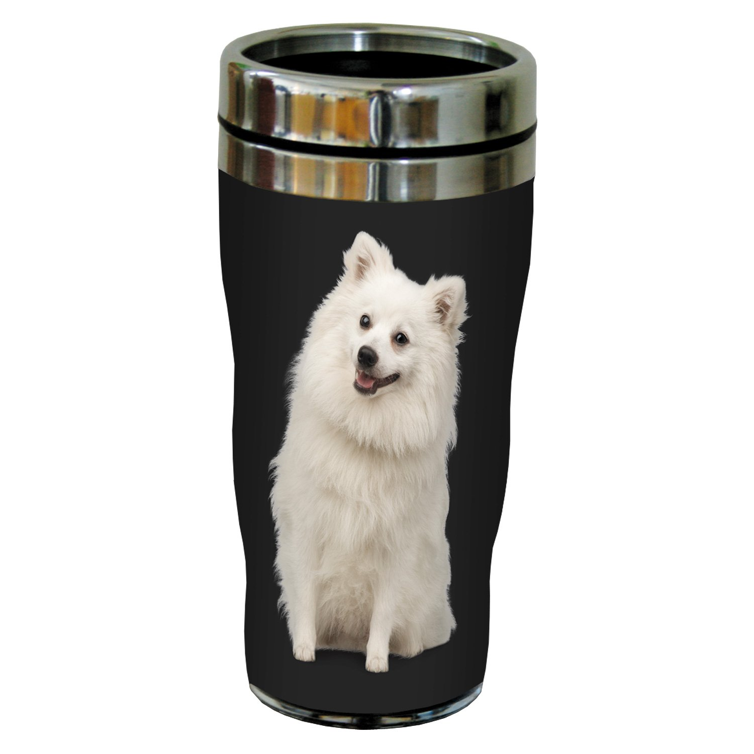 16-Ounce White Tree-Free Greetings SG25074 I Heart Keeshonds Sip N Go Stainless Lined Travel Tumbler