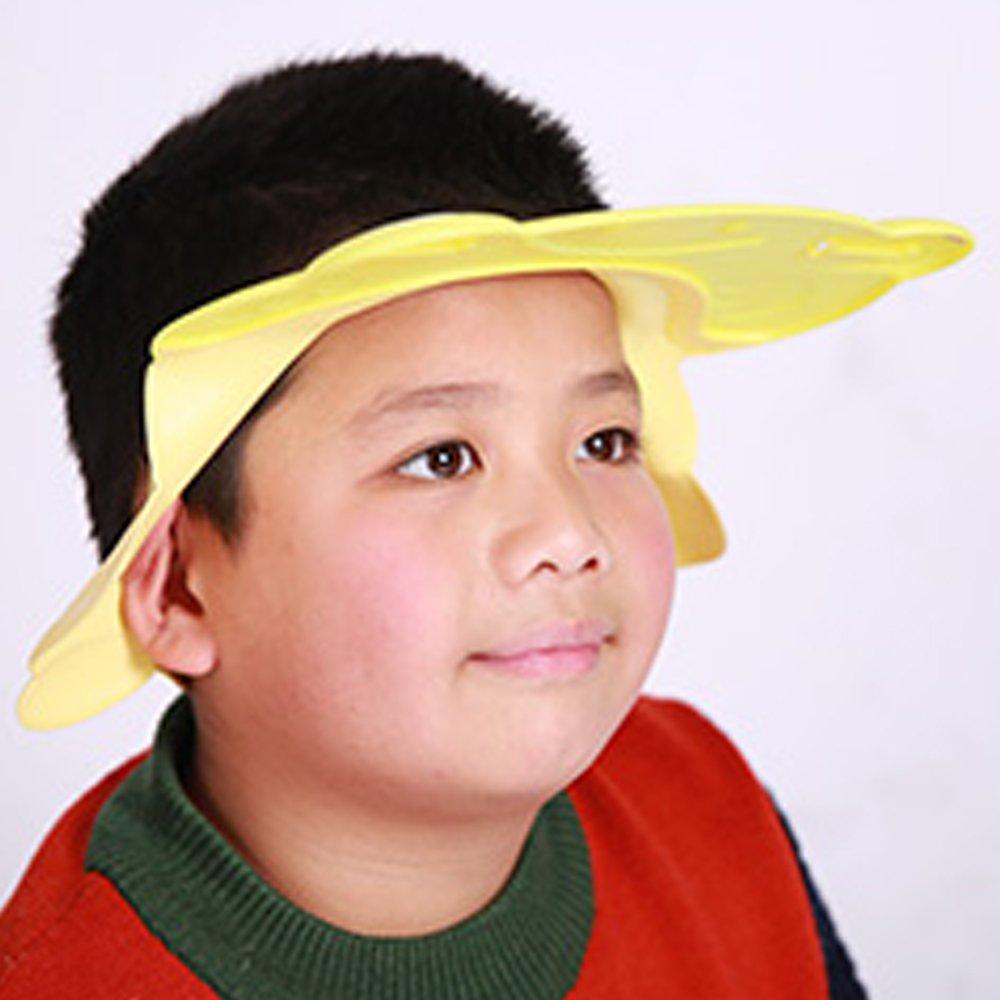 TAMUME Silikon Chapeaux de Bain Douche Réglable Chapeau Shampoing Souple  pour Bébé, Bouclier Shampooing Réglable 73b562e7e29