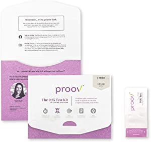 Proov PdG - Progesterone Metabolite – Test | Only FDA-Cleared Test to Confirm Successful Ovulation at Home | 1 Cycle Pack | Works Great with Ovulation Tests | 5 PdG Test Strips
