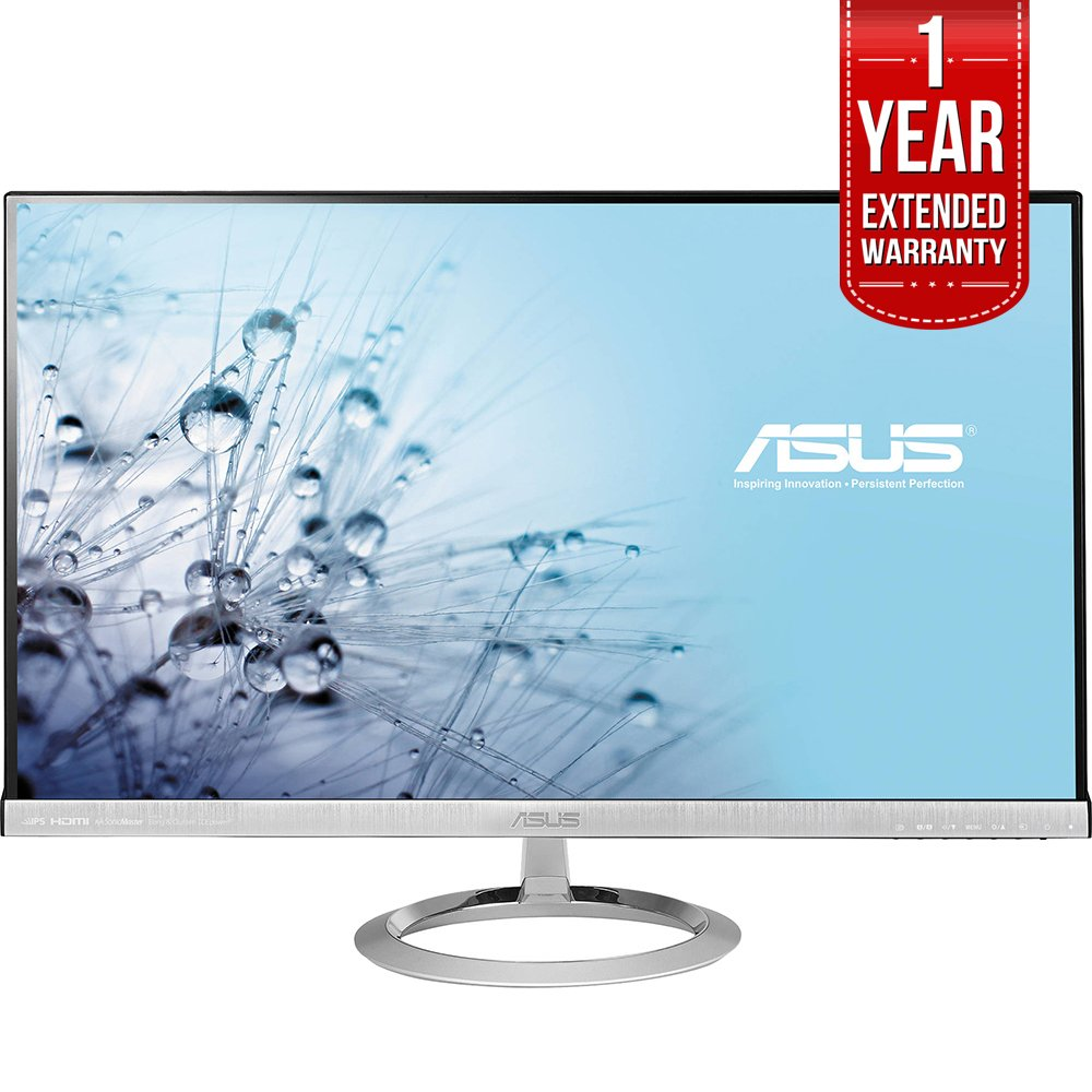 "Asus 27"" Widescreen Full Hd Ah Ips Led Backlit And Frameless Monitor (Mx279 H) With 1 Year Extended Warranty by Asus"