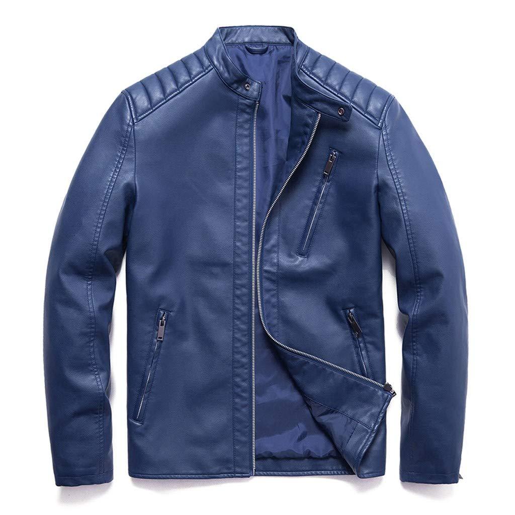 Ugly Pull Hommes Faux Cuir Veste Automne /& Hiver Biker Surdimensionn/é /À Capuche Moto Zipper Casual Outwear Manteau