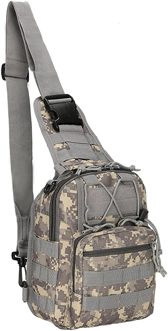 Tactical Military Sling Chest Pack Laptop Rucksack Schultertasche H9I3