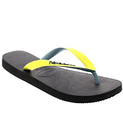 ac06b2c67efa Havaianas Mens Top Mix Casual Holiday Beach Summer Flip Flops Sandals -  Black Yellow - 6 7  Amazon.co.uk  Shoes   Bags