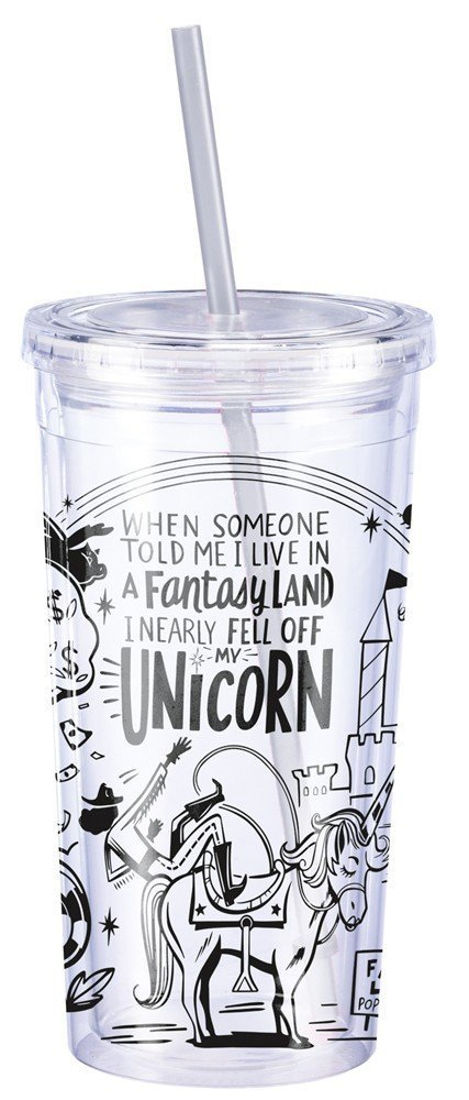 Fantasy Land Unicorn Primitives by Kathy Travel Cup